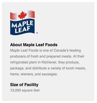 Maple Leaf Foods in Kitchener, Ontario success story on the installation of an ecoair system for cold storage destratification and air quality.